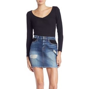 NWT Good American Jeans Denim Skirt 6 / 28 $149